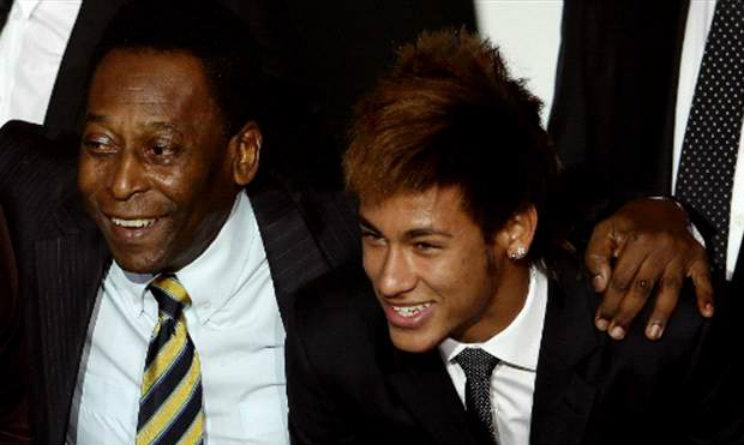 Pelé e Neymar Jr